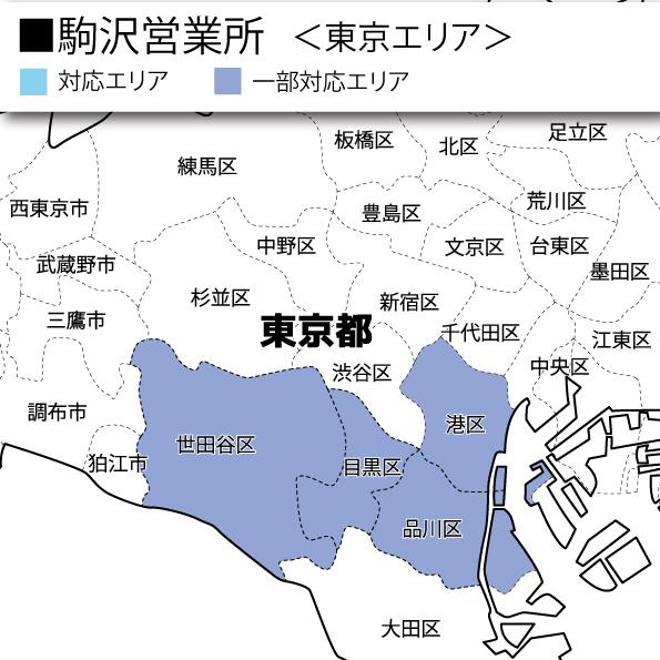 駒沢営業所主要対応エリア