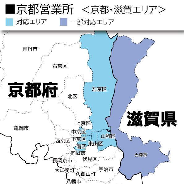 京都営業所主要対応エリア